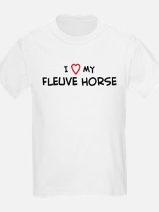 I Love Fleuve Horse  Kids T-Shirt