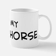I Love Fleuve Horse  Mug