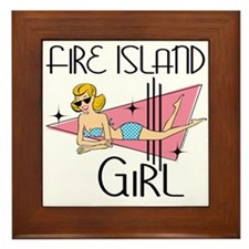 Fire Island Girl Framed Tile