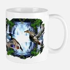 Mallards in flight Mug