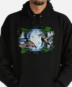 Mallards in flight Hoodie (dark)