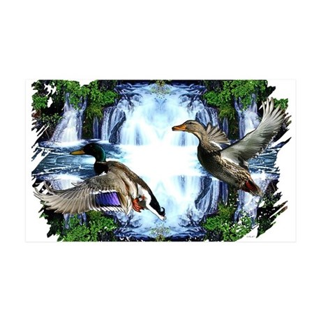 Mallards in flight 38.5 x 24.5 Wall Peel