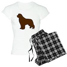 Brown Newfoundland Silhouette Pajamas