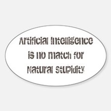Artificial Intelligence Sticker (Oval)