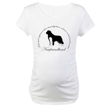 Devoted Irish Spotted Newf Maternity T-Shirt