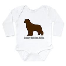 Brown Newfoundland Long Sleeve Infant Bodysuit