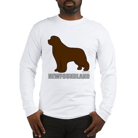 Brown Newfoundland Long Sleeve T-Shirt