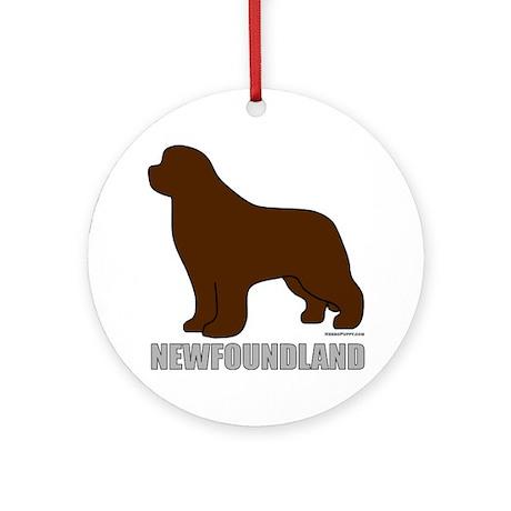 Brown Newfoundland Ornament (Round)