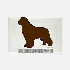Brown Newfoundland Rectangle Magnet