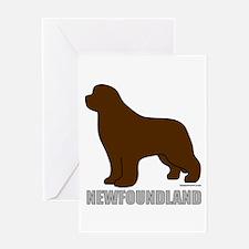 Brown Newfoundland Greeting Card