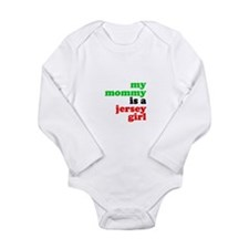 My Mommy is a Jersey Girl Long Sleeve Infant Bodys