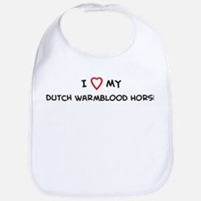 I Love Dutch Warmblood Horse Bib