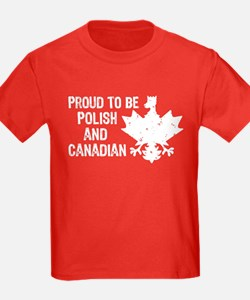 Proud To Be Polish and Canadian T