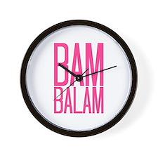 Bam Balam - Pink Wall Clock