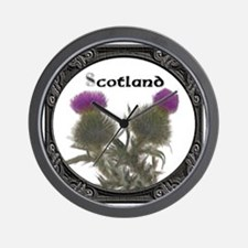 Unique Scottish thistle Wall Clock