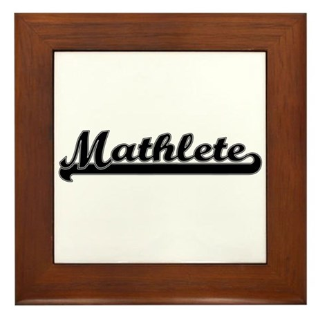 Mathlete Framed Tile