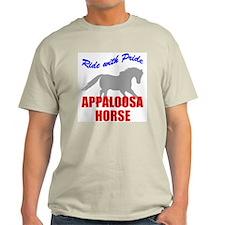 Ride With Pride Appaloosa Horse Ash Grey T-Shirt