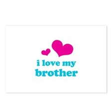 I Love My Brother Postcards (Package of 8)