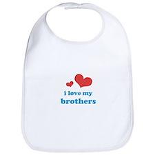 I Love My Brothers Bib