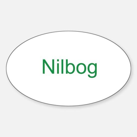 Nilbog Trollb 2 Sticker (Oval)