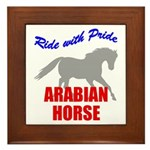 Ride With Pride Arabian Horse Framed Tile
