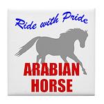 Ride With Pride Arabian Horse Tile Coaster