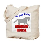 Ride With Pride Arabian Horse Tote Bag