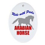 Ride With Pride Arabian Horse Oval Ornament