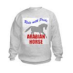 Ride With Pride Arabian Horse Kids Sweatshirt