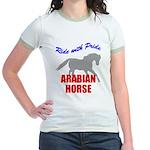 Ride With Pride Arabian Horse Jr. Ringer T-Shirt