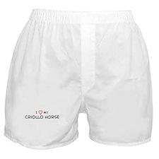 I Love Criollo Horse  Boxer Shorts