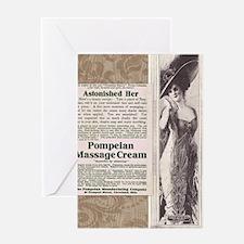 Pompeian Cream 1909 ad Greeting Card