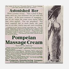 Pompeian Cream 1909 ad Tile Coaster