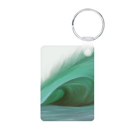 Wave Art - Aluminum Photo Keychain