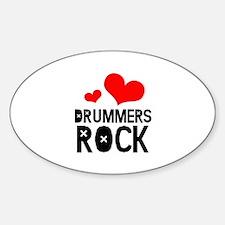 Drummers Rock Decal
