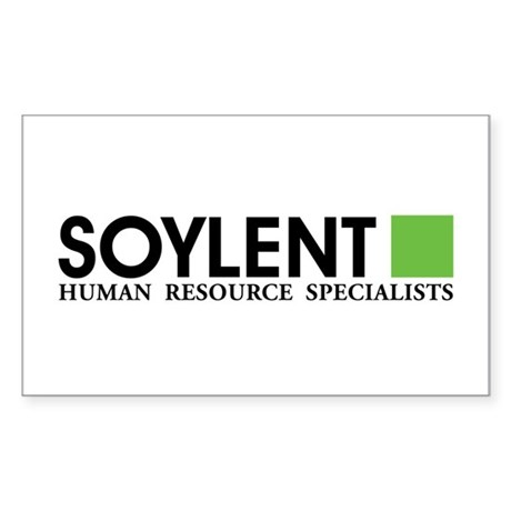 Soylent Human Resources Sticker (Rectangle)