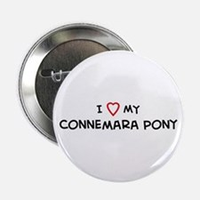 I Love Connemara Pony Button