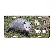 Possum-Kiss Me Aluminum License Plate