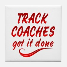 Track Coaches Tile Coaster