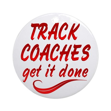 Track Coaches Ornament (Round)