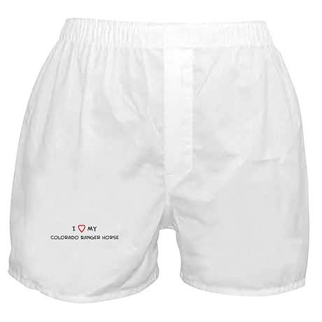 I Love Colorado Ranger Horse Boxer Shorts