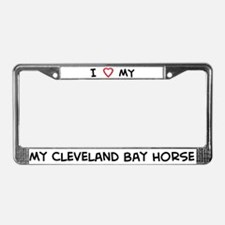 I Love Cleveland Bay Horse License Plate Frame
