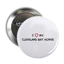 I Love Cleveland Bay Horse Button