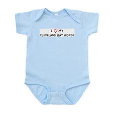 I Love Cleveland Bay Horse Infant Creeper
