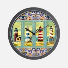 Funny Cape cod lighthouse Wall Clock