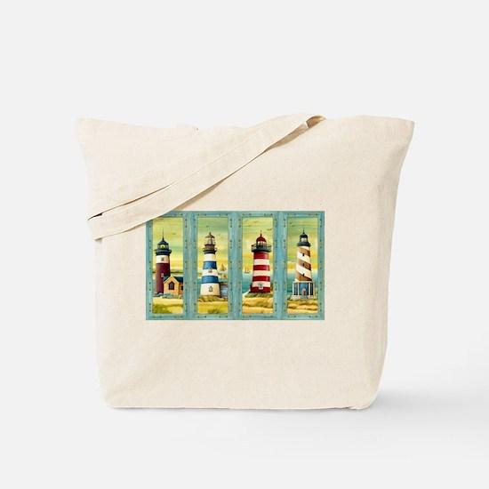 Cute Maine lighthouse Tote Bag