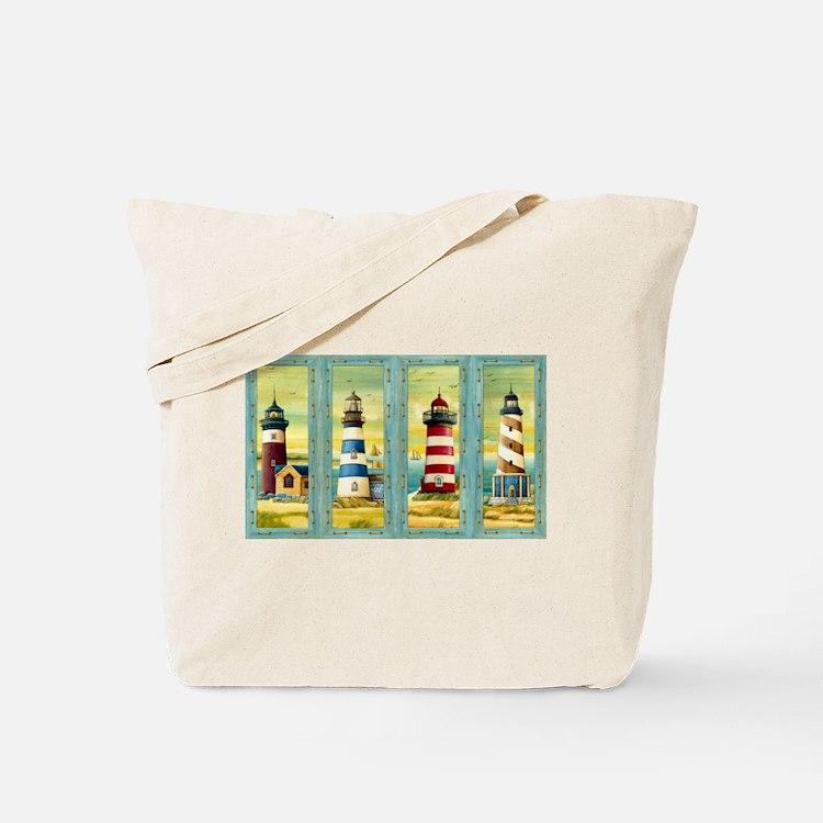 Cute Maine light house Tote Bag