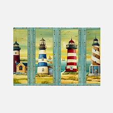 Cute Cape cod lighthouses Rectangle Magnet