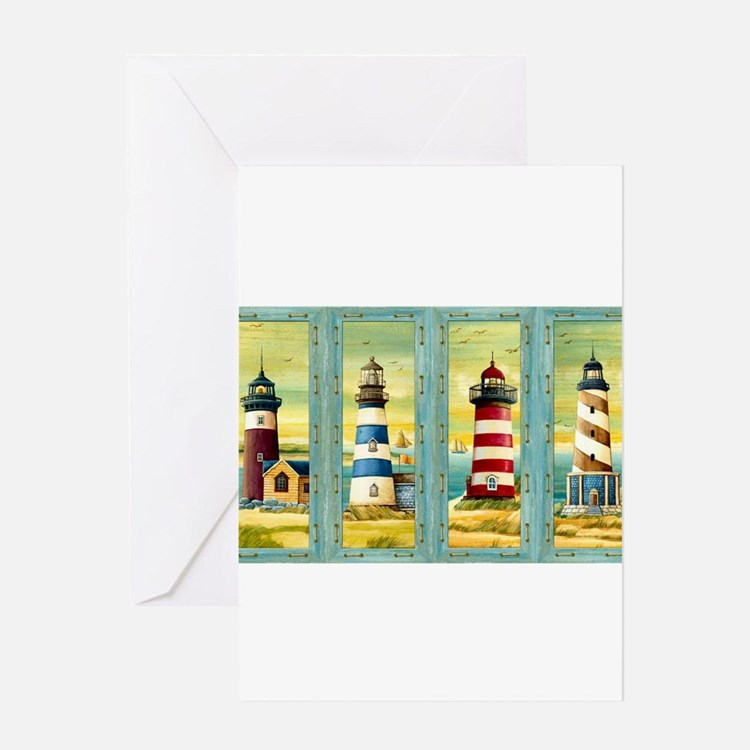 Cute Scenic maine lighthouse Greeting Card
