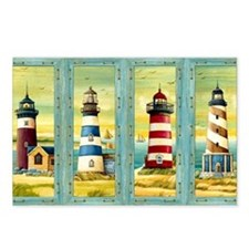 Cute Cape cod lighthouses Postcards (Package of 8)